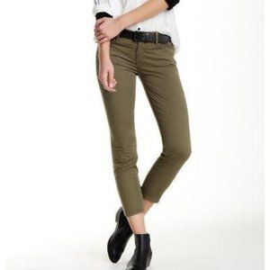 Mother The Looker Crop Khaki Pants in Army Green